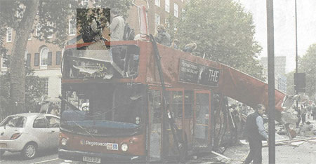 Photo of Destroyed Bus