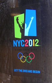 Photo of NYC2012 Decal on Subway Car