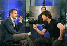 Tom Cruise arguing with Matt Lauer